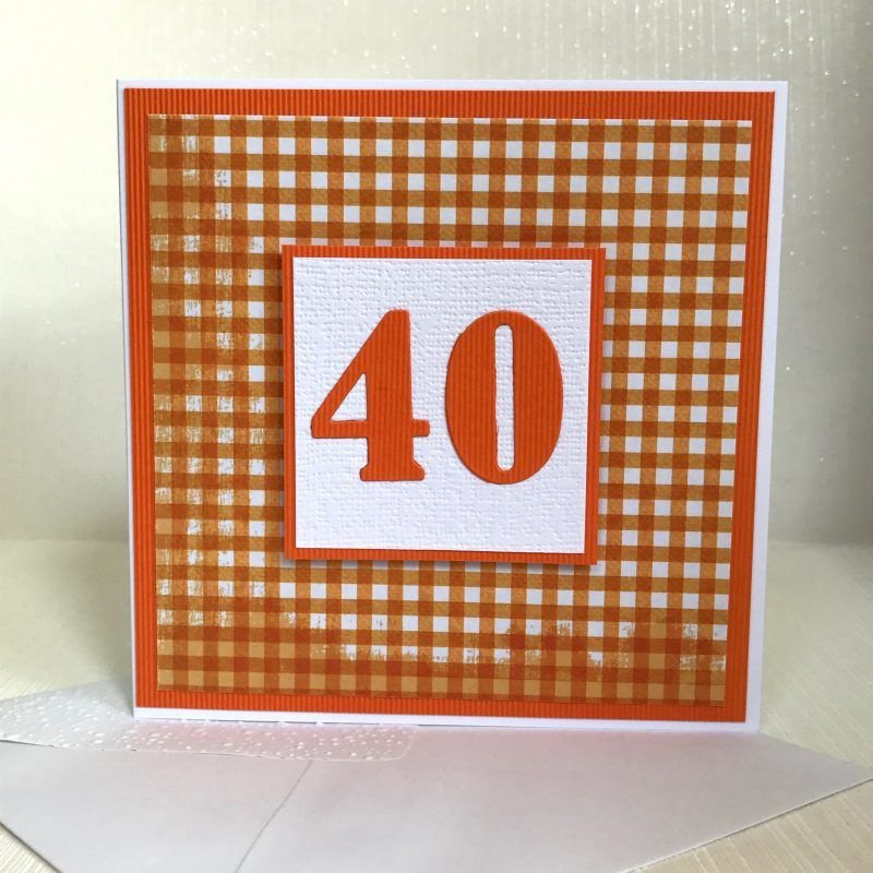 40th Birthday Card Handmade Ready For Delivery