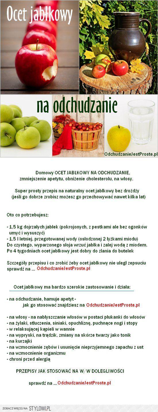 Ocet jabłkowy na odchudzanie – przepis domowy   Odchudz… na Stylowi.pl