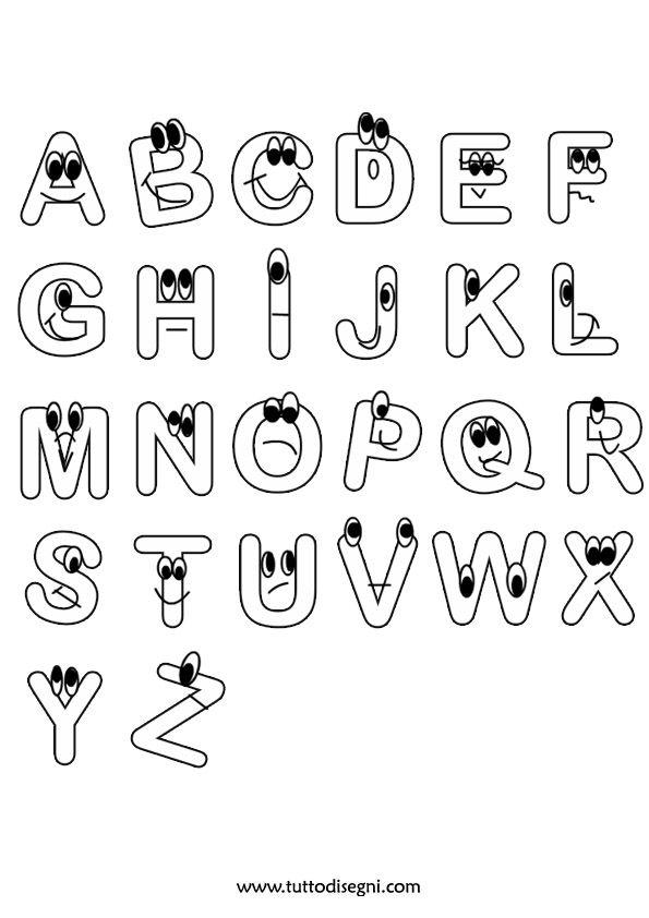 Lettere Alfabeto Da Stampare E Colorare Tuttodisegni Com Lettere