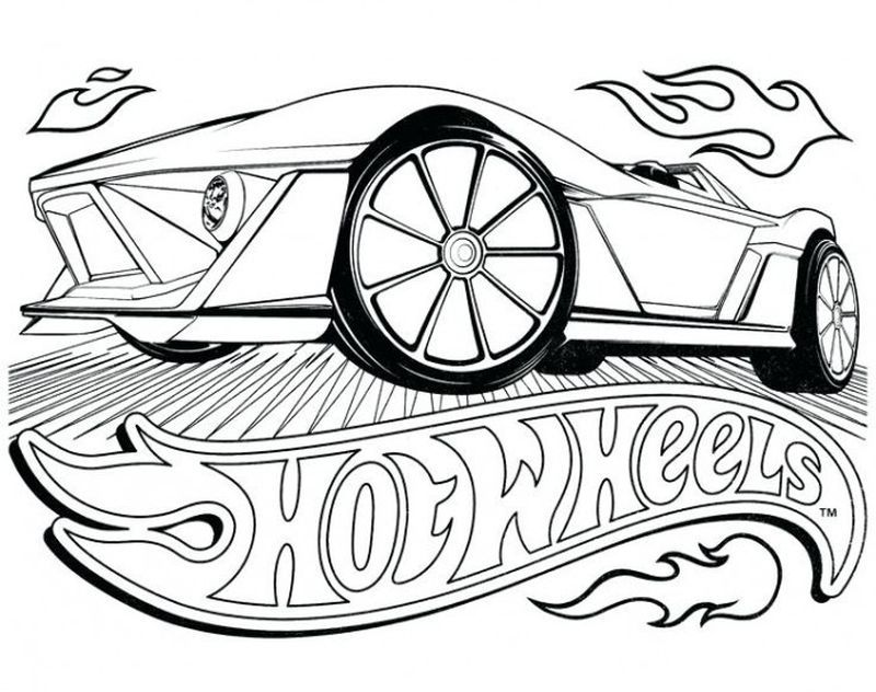 Hot Wheels Coloring Pages To Make Your Kids Day Colorful Cars Coloring Pages Coloring Books Race Car Coloring Pages