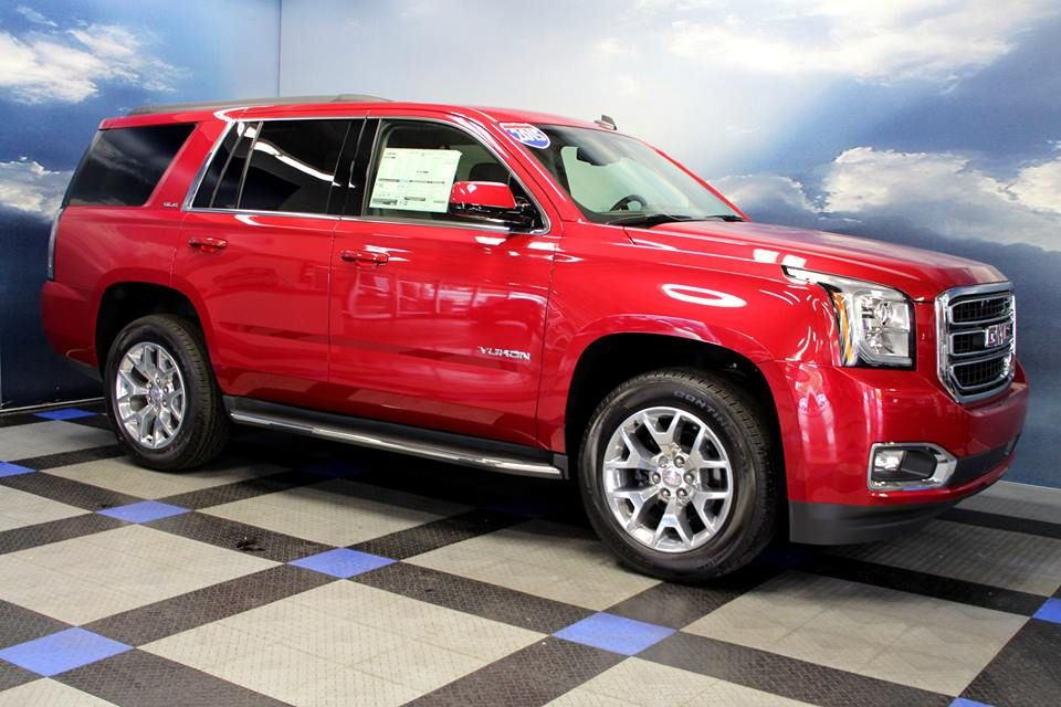 2015 Gmc Yukon 4wd Sle In Crystal Red Tintcoat With Cocoa Dune