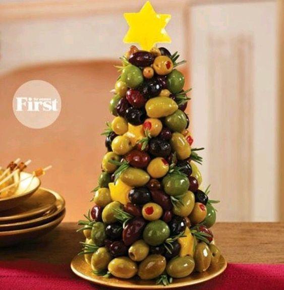 Como Hacer Un Pino De Frutas O Bocadillos Para Tu Cena Navidena Comida De Navidad Comidas Navidenas Aperitivos Navidenos