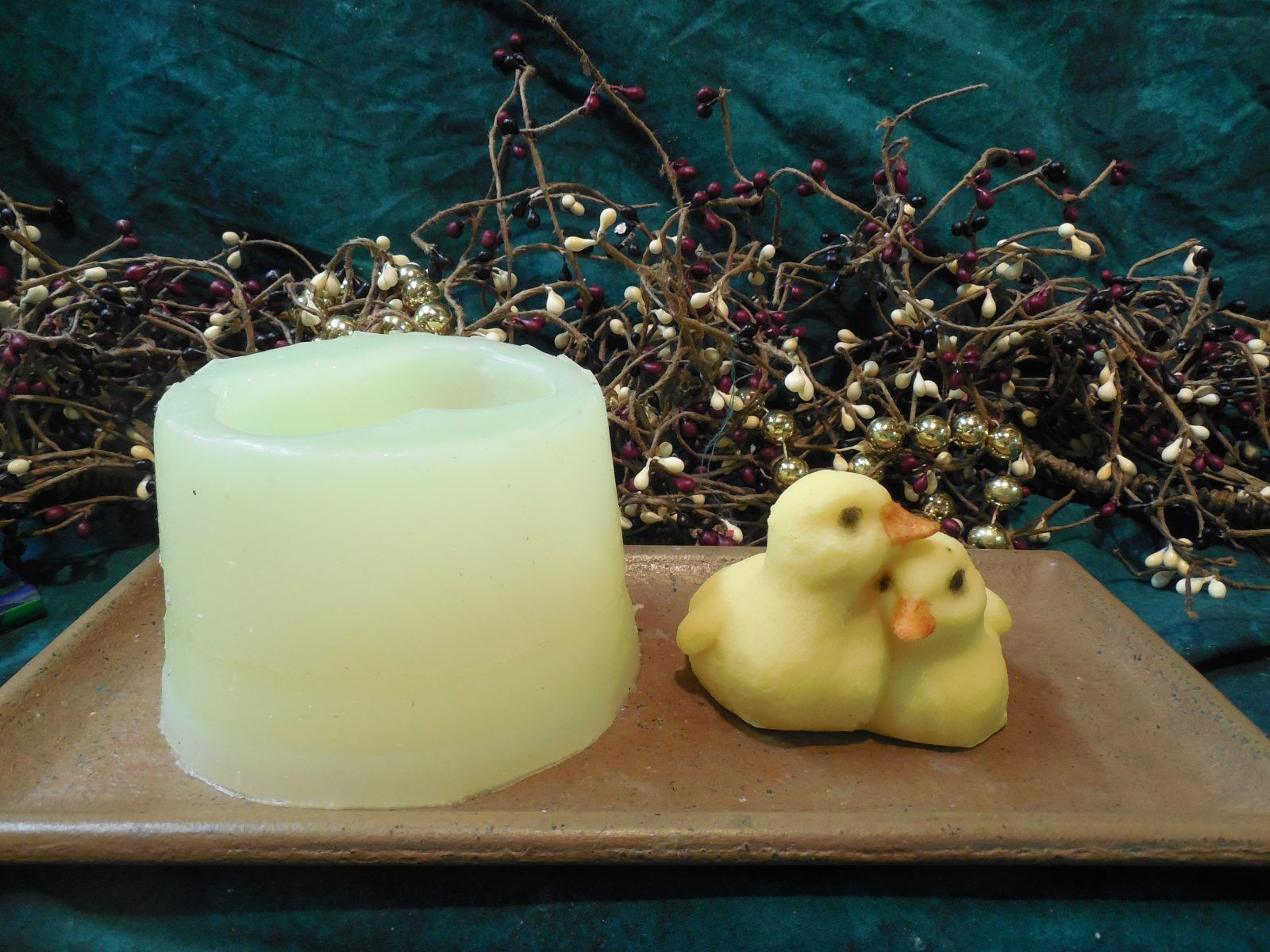 Twin Duck Hug Large Soap I Cavity Silicone Mold 1387