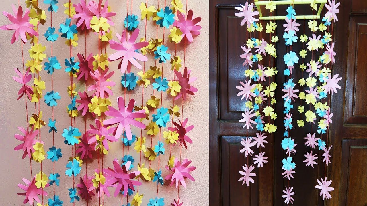 Amazing Hanging Flower   DIY Simple Home Decor   Paper Craft Ideas ...