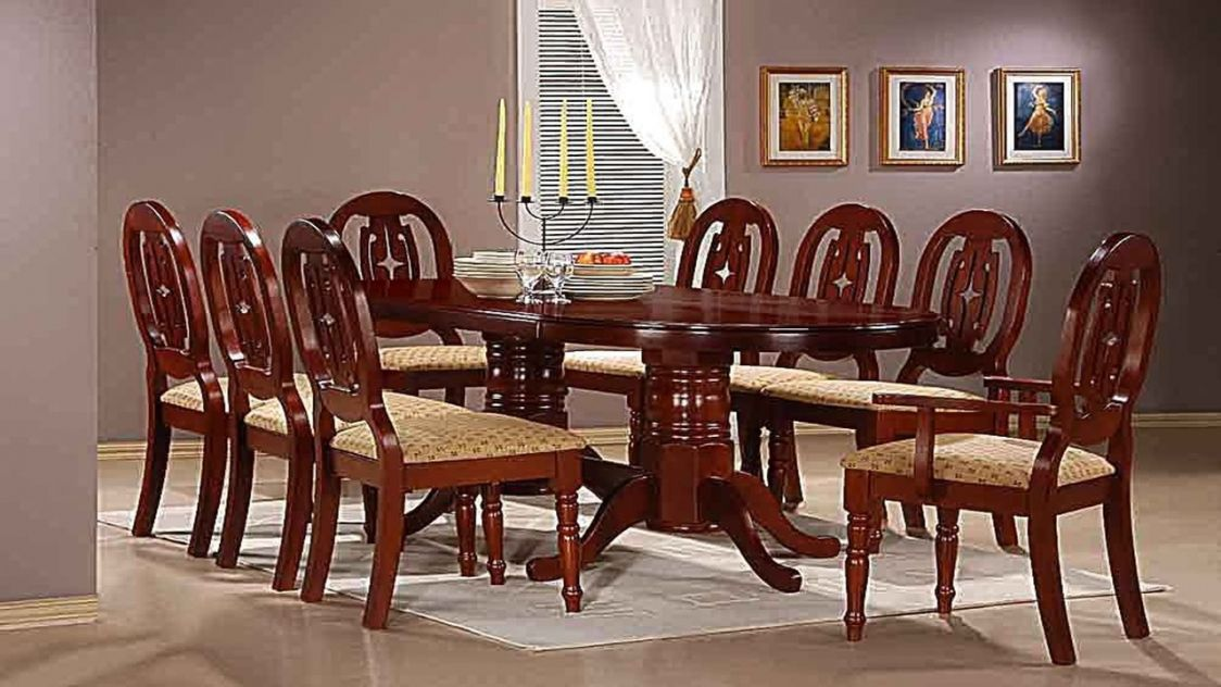 Mahogany Dining Room Table and 8 Chairs - Best Spray Paint for Wood ...