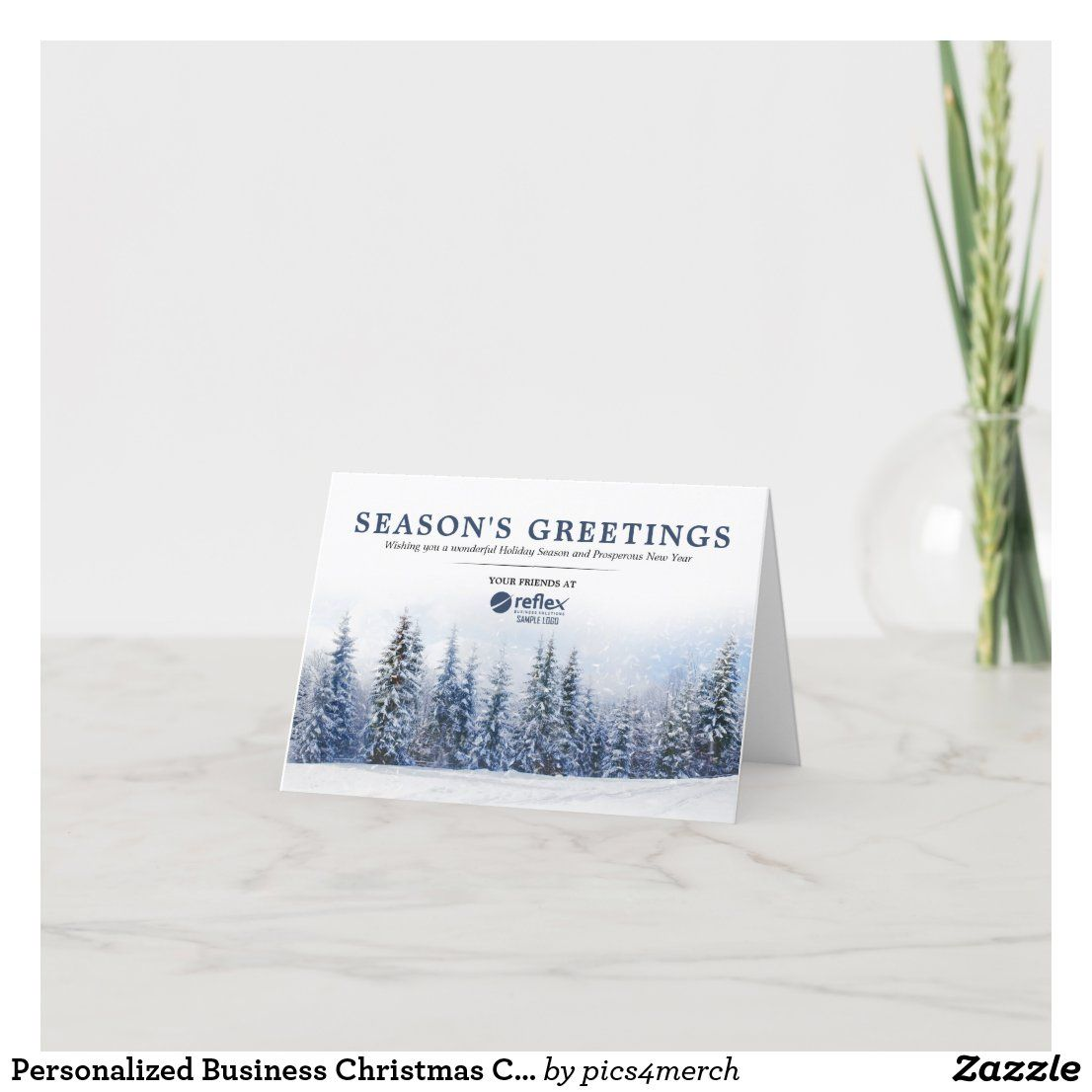 Personalized Business Christmas Cards With Logo Business Christmas Cards Business Holiday Cards Custom Holiday Card