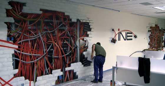 office wall art graffiti graffiti art office walljpg fex office space pinterest art for office walls