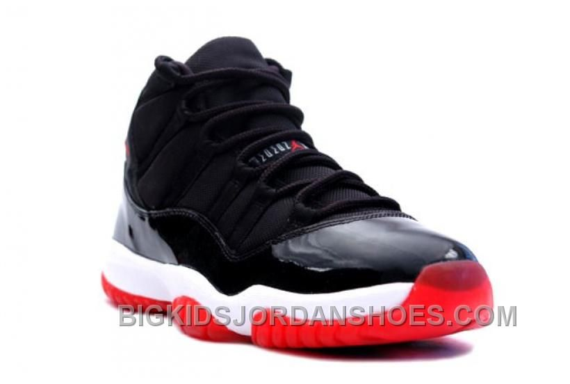 huge discount e0d0d ede72 New 378037-010 Air Jordan 11 (XI) Bred 2012 Black White Varsity Red Playoffs  Grade School s Shoe