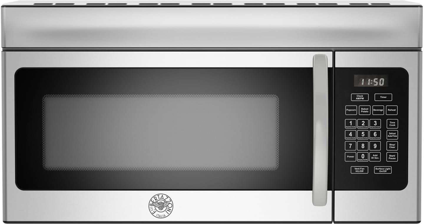 Bertazzoni Kotr30x 1 6 Cu Ft Over The Range Microwave With Sensor Reheat Sensor Defrost 10 Power Levels 1 000 Watts Of Power And 300 Cfm Range Microwave Microwave Convection Oven Convection Cooking