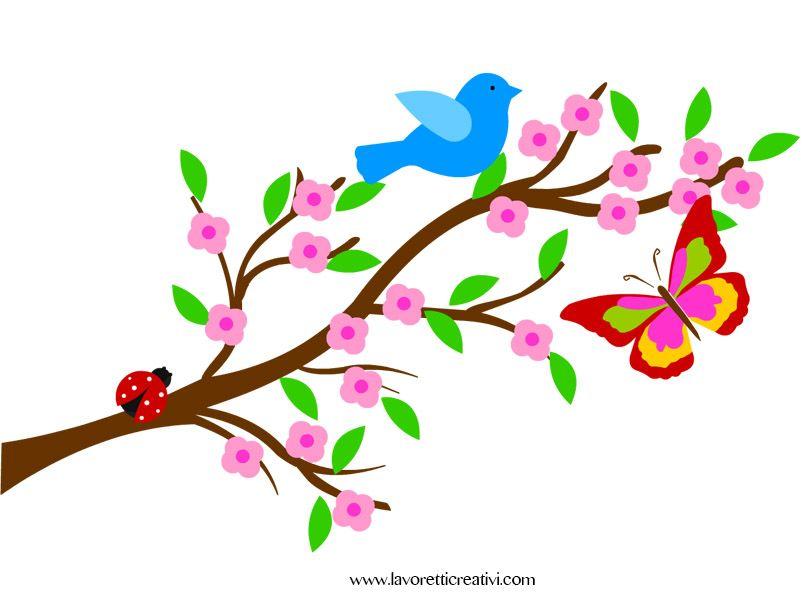 Addobbi primavera ramo pesco spring pinterest primavera scuola e pappagalli - Decorazioni primaverili per finestre ...