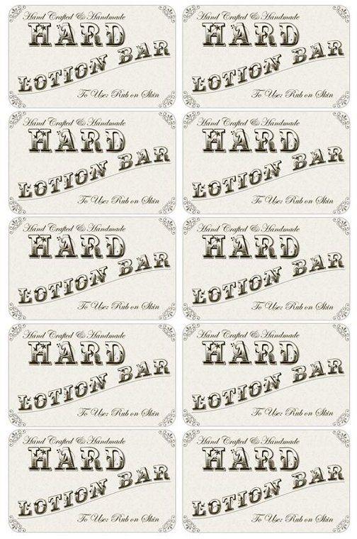 Super Easy Hard Lotion Bar Recipe   Just Three Ingredients   Ingredients  Label Template  Ingredient Label Template
