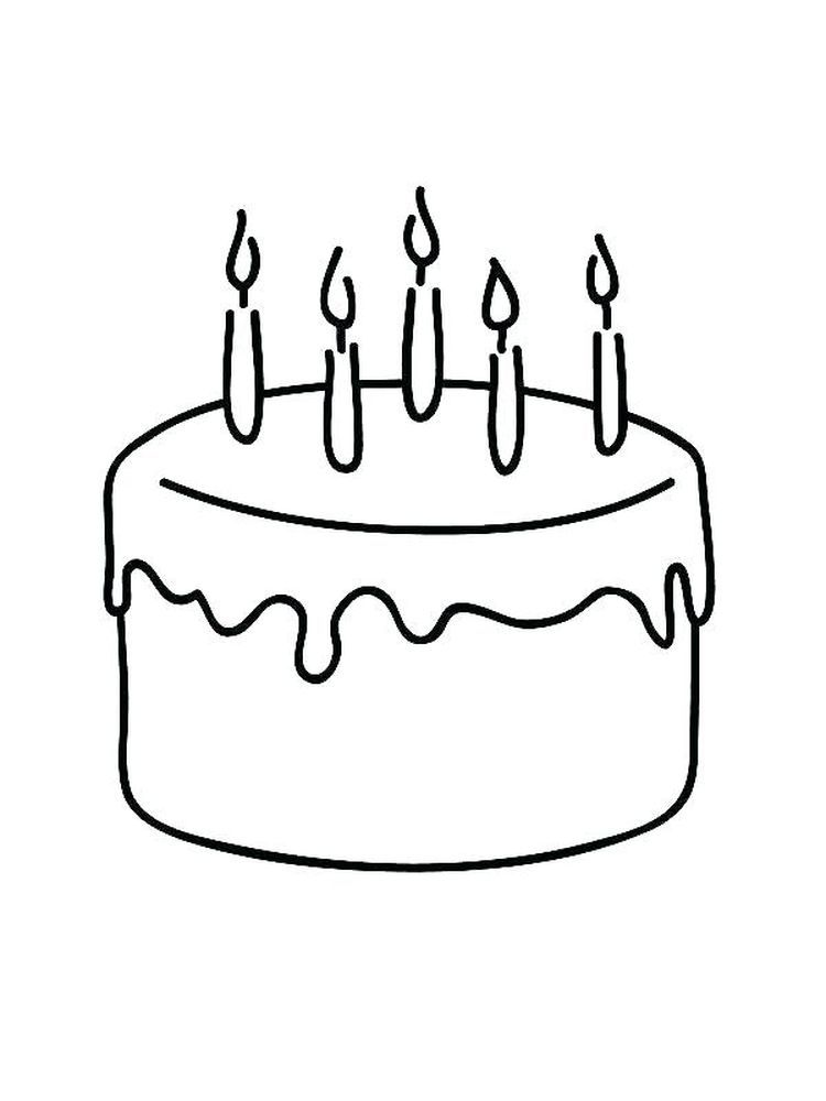 Free Printable Birthday Cake Coloring Pages For Kids Birthday