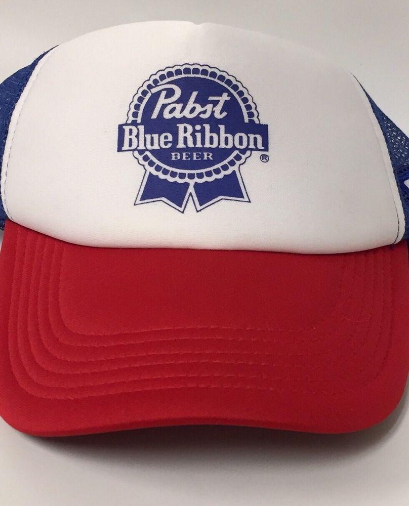 658cde670 Pabst Blue Ribbon Snap Back Cap Hat PBR Beer Logo   HATS   Hats ...