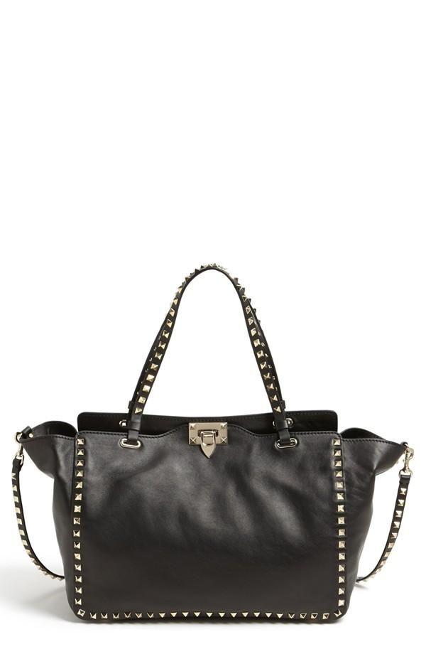 f77381e2ef Valentino 'Medium Rockstud' Leather Tote | Fashion | Bags, Studded ...