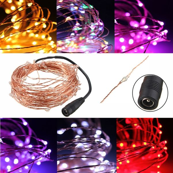 10M 100 LED Warm White String Fairy Light DC12V Waterproof Copper - outdoor christmas decorations wholesale