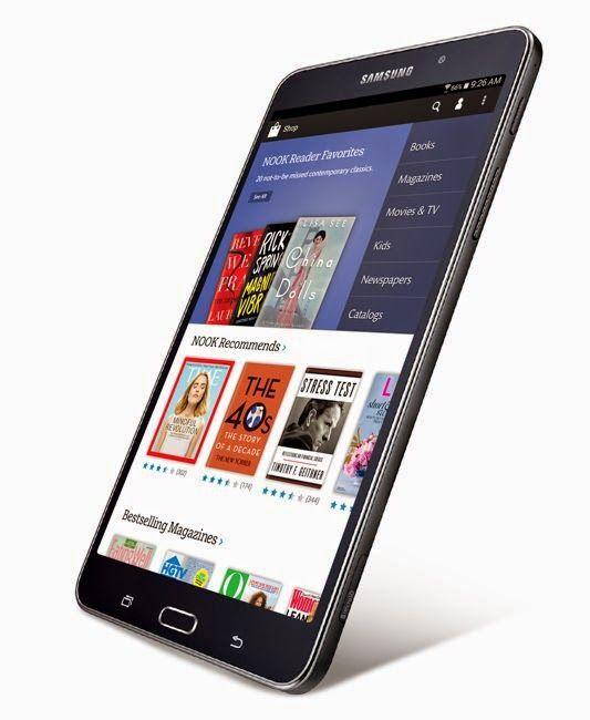 Samsung Galaxy Tab 4 Nook Tablet Announced Nook Tablet Samsung