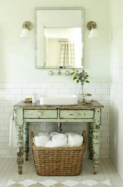 Love This Old Or Shabby Chic Table