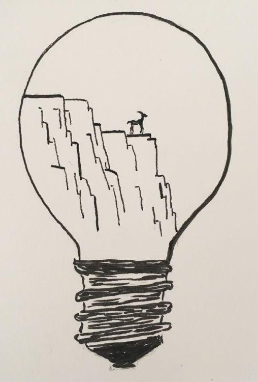 die idee mit der glühlampe fand ich so gut dass ich