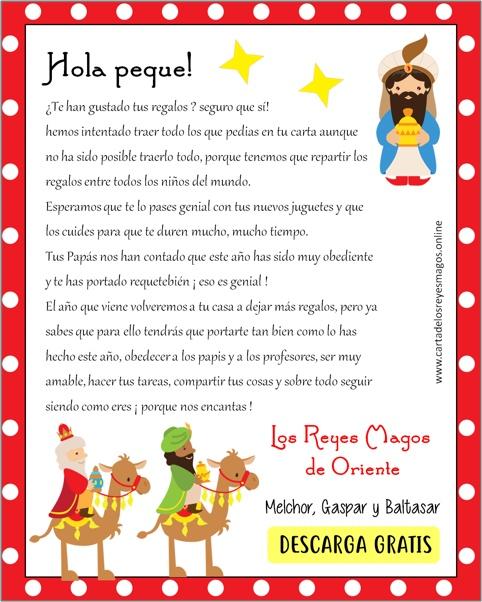 Carta De Los Reyes Magos A Los Niños Carta De Los Reyes Magos Rey Mago Feliz Dia De Reyes Reyes Magos