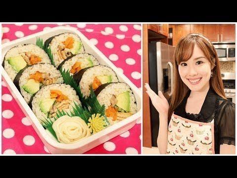 [  Vegetarian Sushi Roll Bento! (Kawaii Bento 15) Vegetarian Sushi Roll ...  - Vegetarian & Vegan -