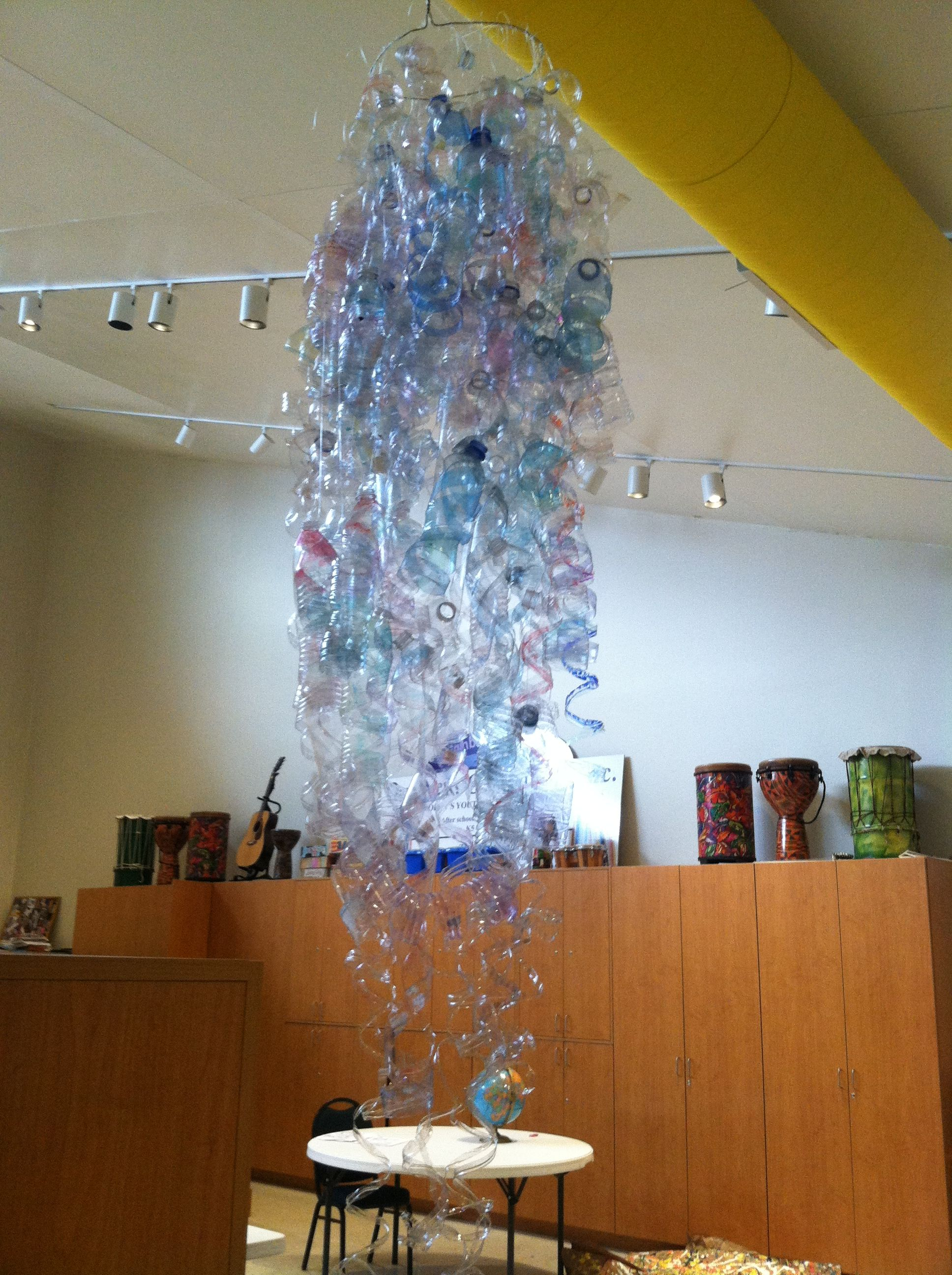 North America: Chihuly Sculpture - Collaborative art featuring individually sculpted bottles by all 140 students.  http://blog.mam.org/2013/05/17/celebrating-chihuly-in-wisconsin/