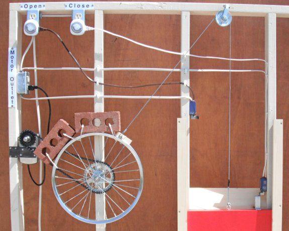 Rube Goldberg Automatic Chicken Coop Door Opener