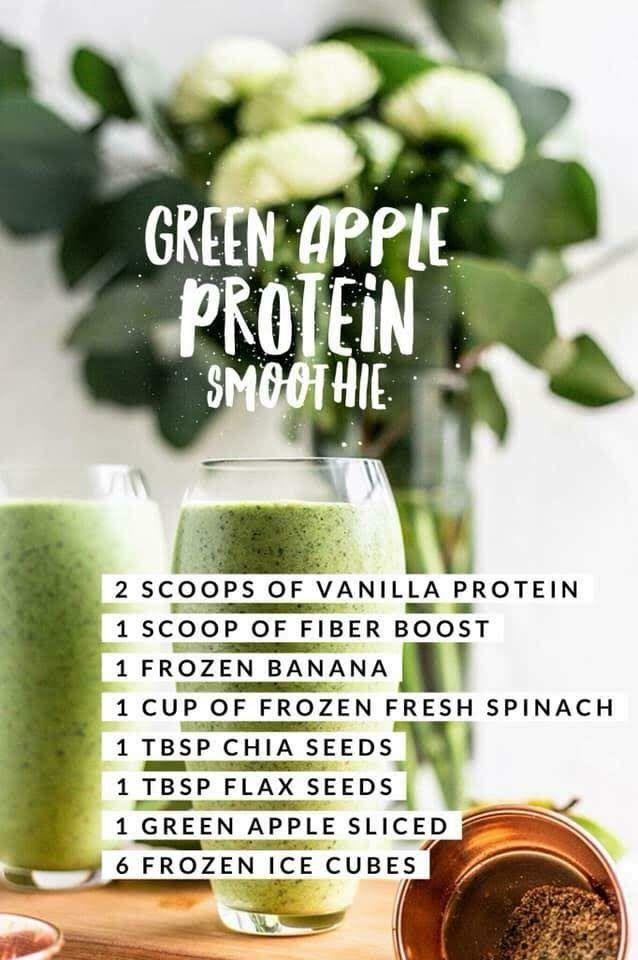 Green Apple Protein Smoothie  #arbonnerecipesdetox
