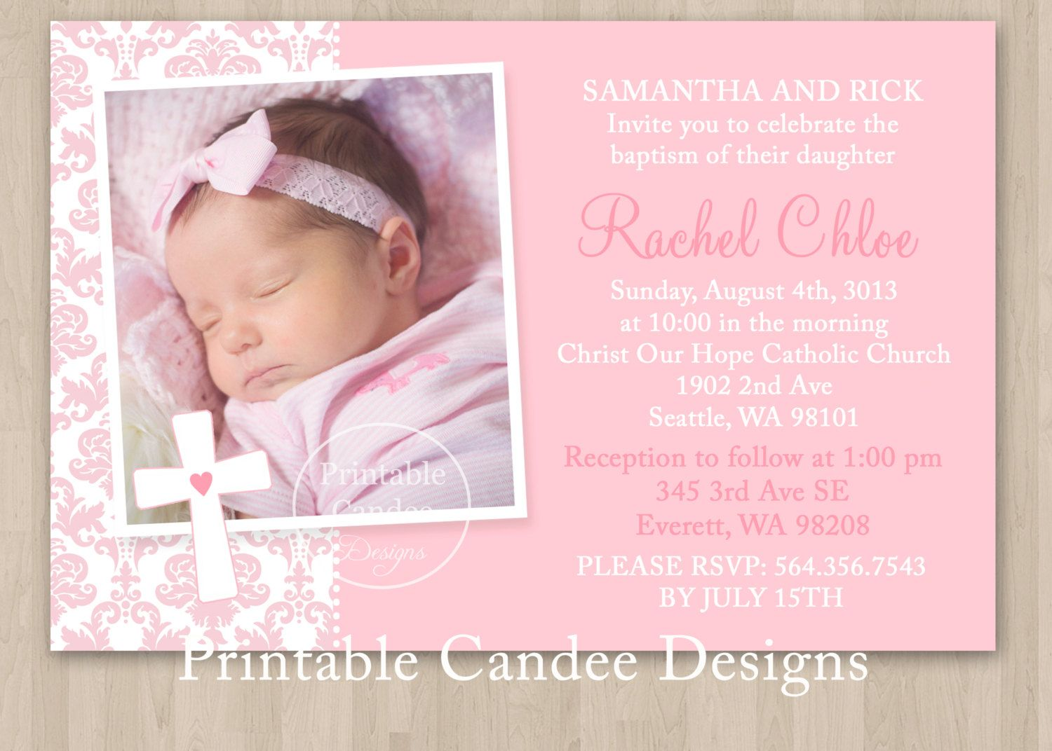 photo relating to Free Printable Baptism Cards named Printable Christening Invites Templates Tasks in the direction of