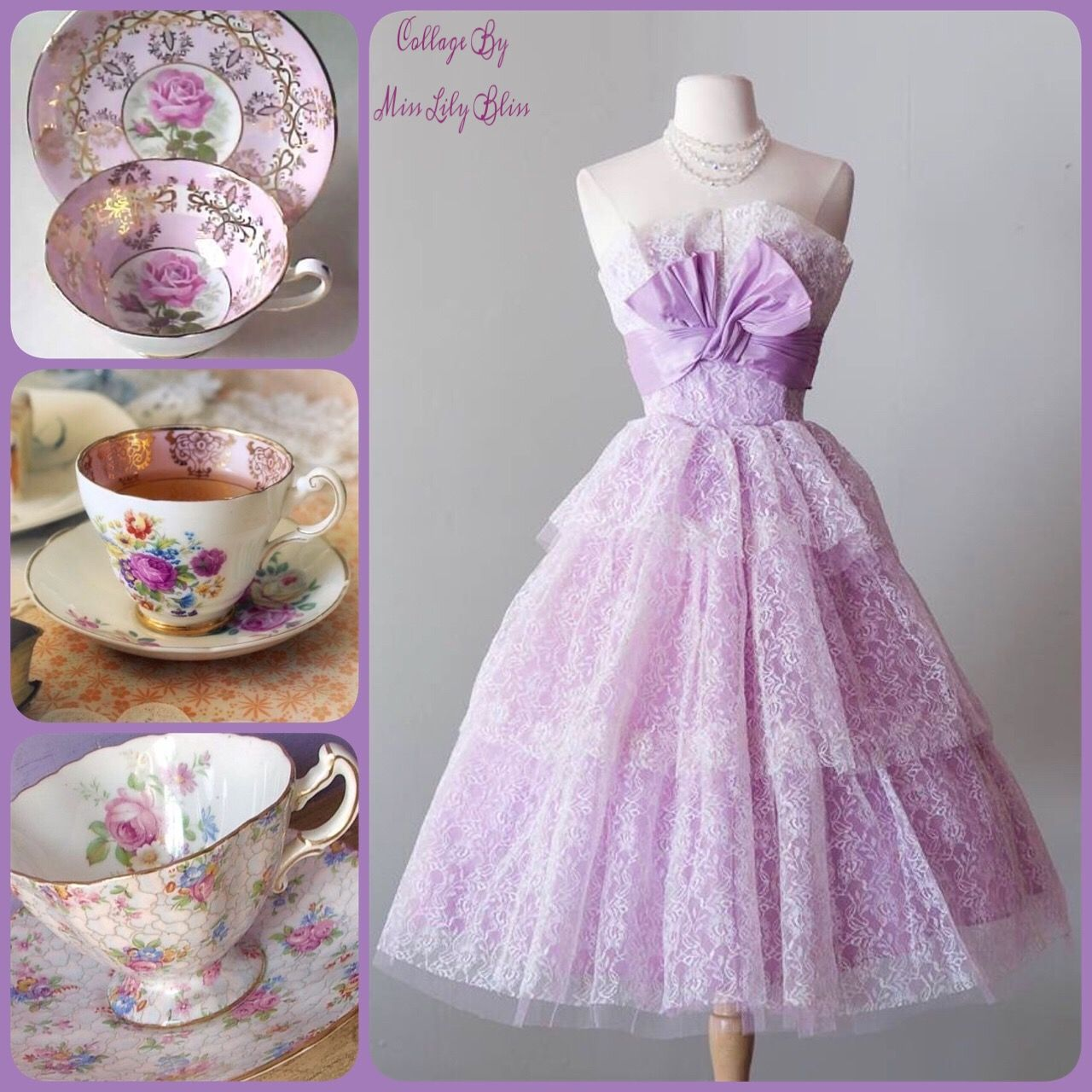 Collage By Miss Lily Bliss Tea dress, Ballroom gowns