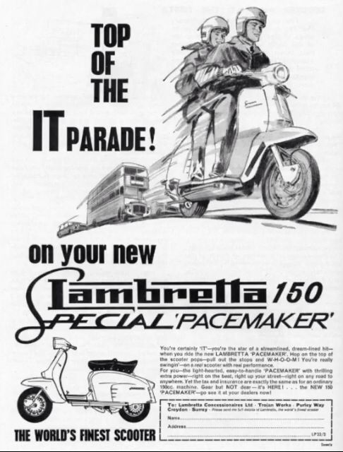 Lambretta advert classic 1960s Vespa Mod Mini Culture ...