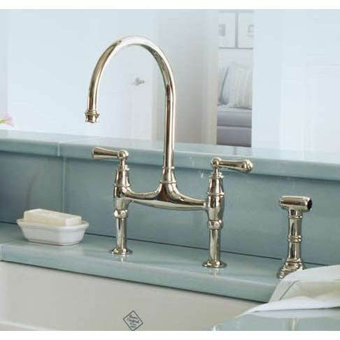 Rohl U.4719L Perrin and Rowe Bridge Faucet with Sidespray | Faucet ...