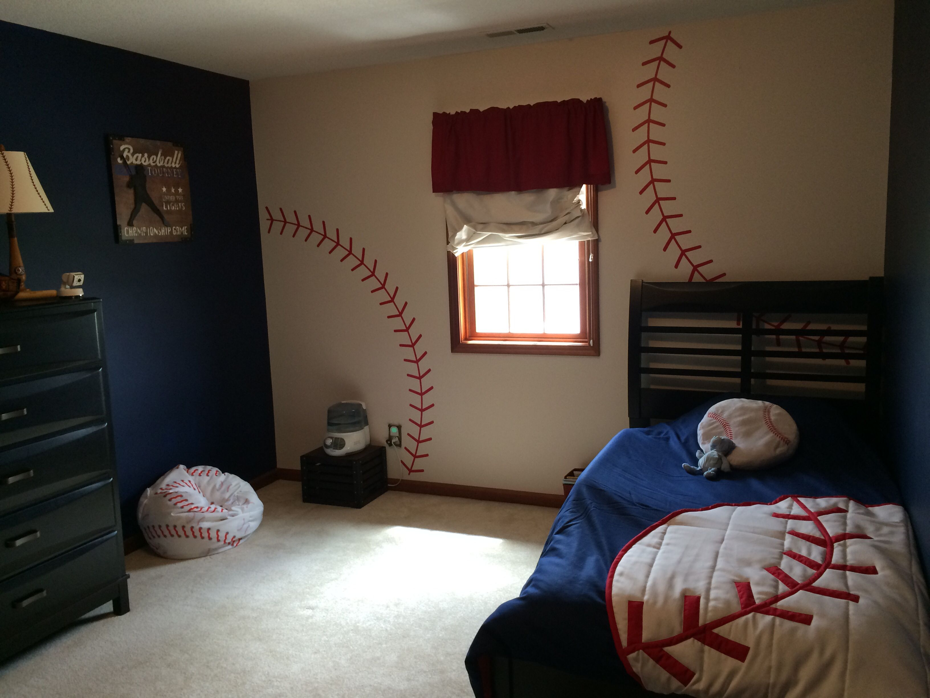 Baseball bedroom baseball pinterest bedrooms room for Themed bedrooms for boys