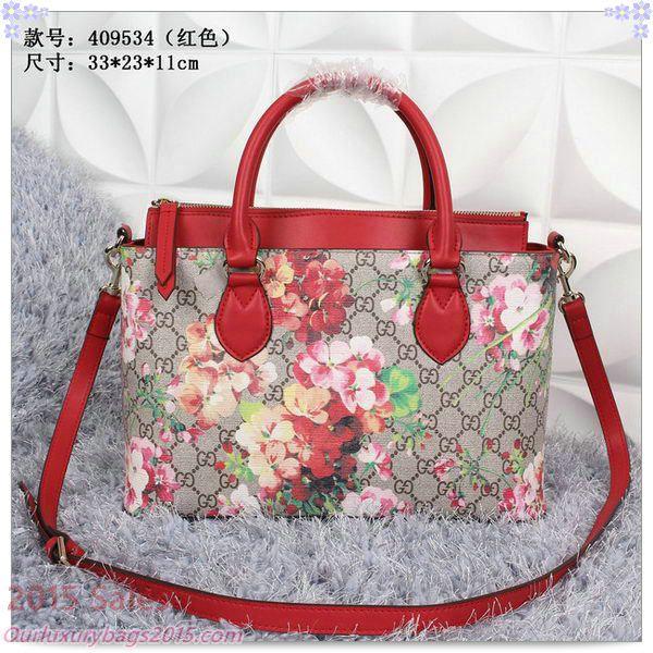 fc988824e6c404 Gucci GG Supreme Blooms Canvas Tote Bags 409534 Red | Gucci Bags ...