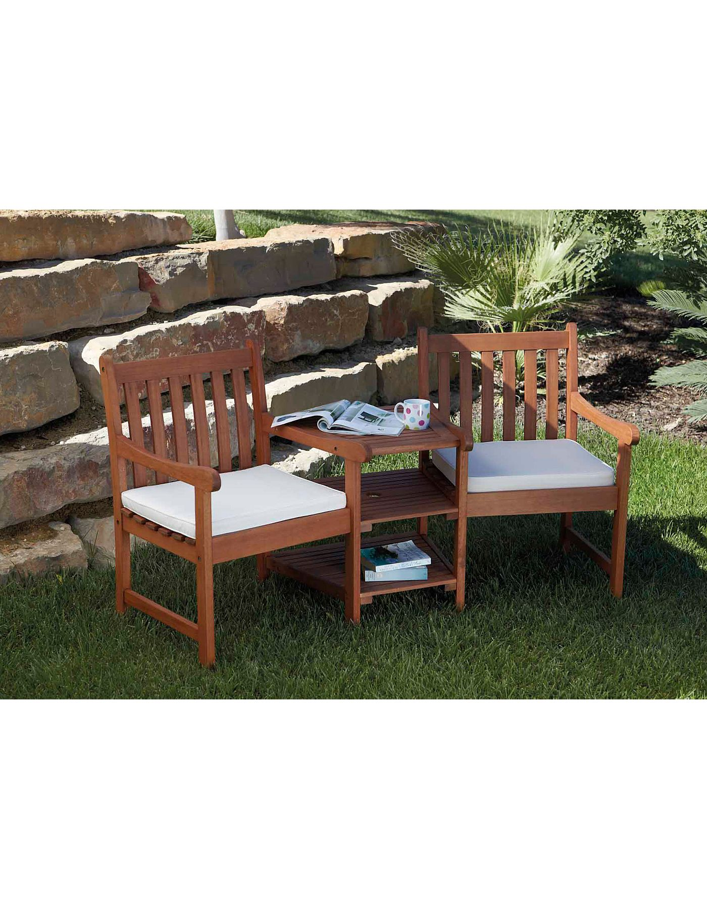 Jack & Jill Twin Garden Seat | Garden Furniture | ASDA direct - Jack & Jill Twin Garden Seat Garden Furniture ASDA Direct