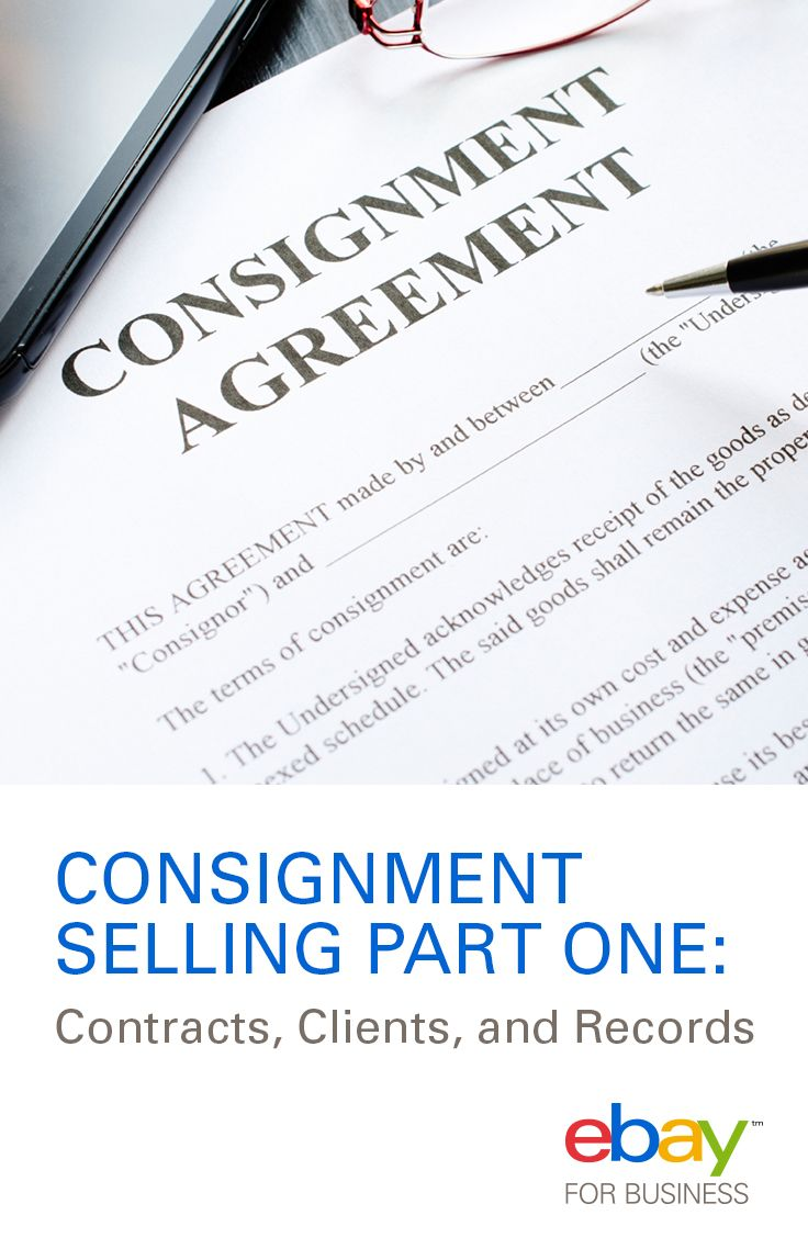 Consignment Selling Part One Contracts Clients And Records