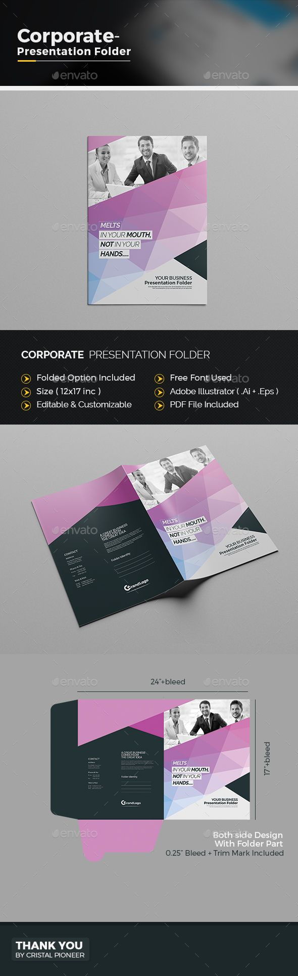 Corporate Presentation Folder | Pinterest
