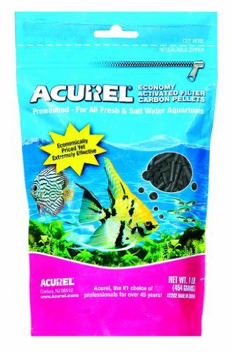$6.80-$2.59 Acurel LLC Economy Activated Filter Carbon Pellets Aquarium and Pond Filter Accessory, 1-Pound - Acurel economy activated filter carbon pellets is an effective pelletized carbon for fresh and salt water aquariums. These activated carbon pellets absorb toxic waste and prevent the buildup of harmful gases. This activated carbon contains large absorption pores which are vital to removing ...