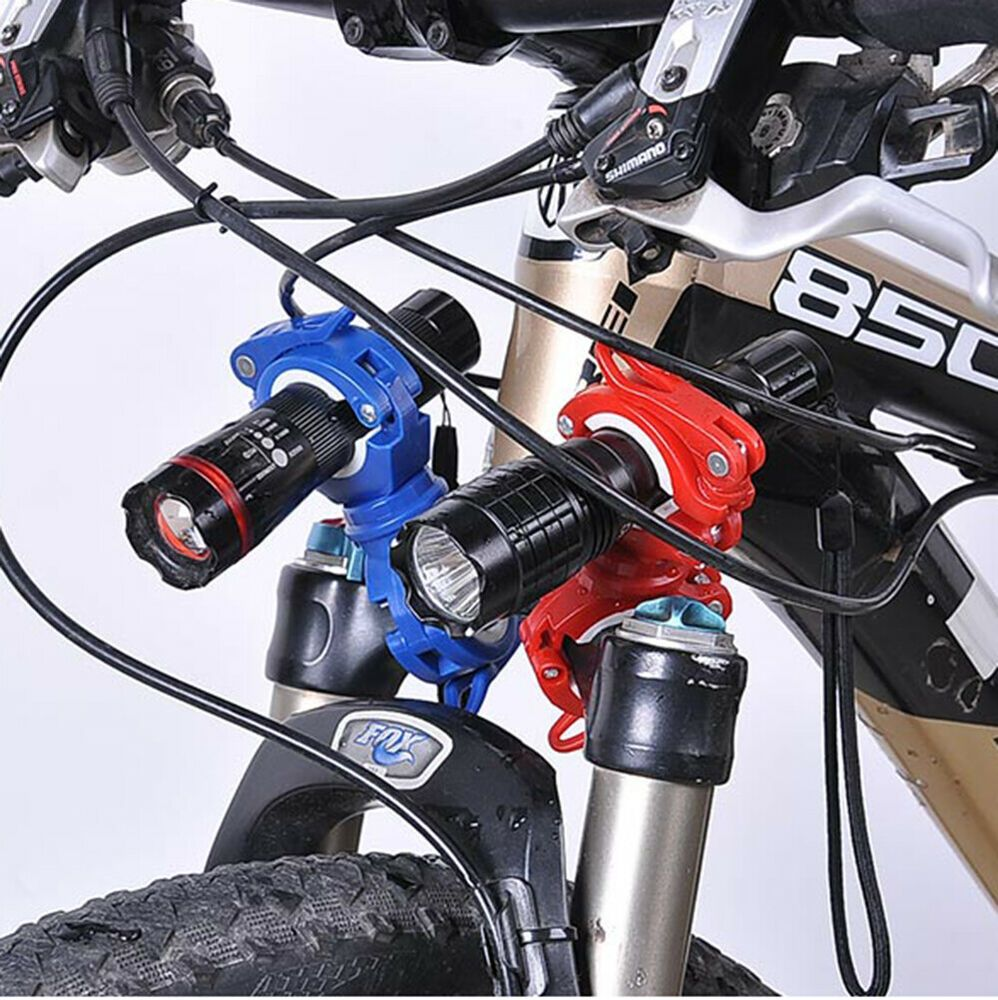 360 Bike Flashlight Mount Bicycle LED Light Holder Cycling Lamp Clamp Torch Clip