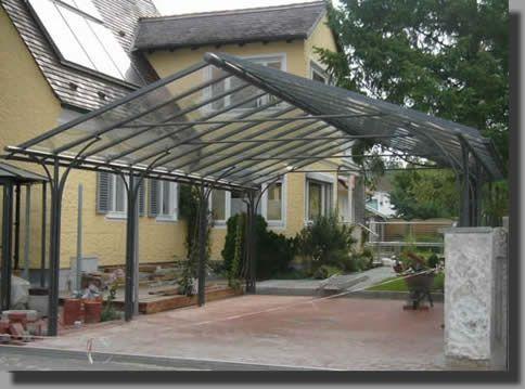 gro z giger carport mit giebeldach carport berdachung terrasse vordach und berdachungen. Black Bedroom Furniture Sets. Home Design Ideas