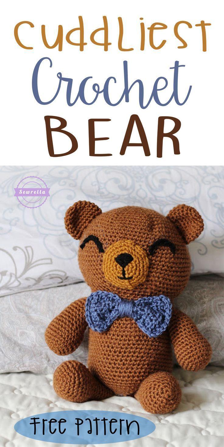 The Cuddliest Crochet Bear