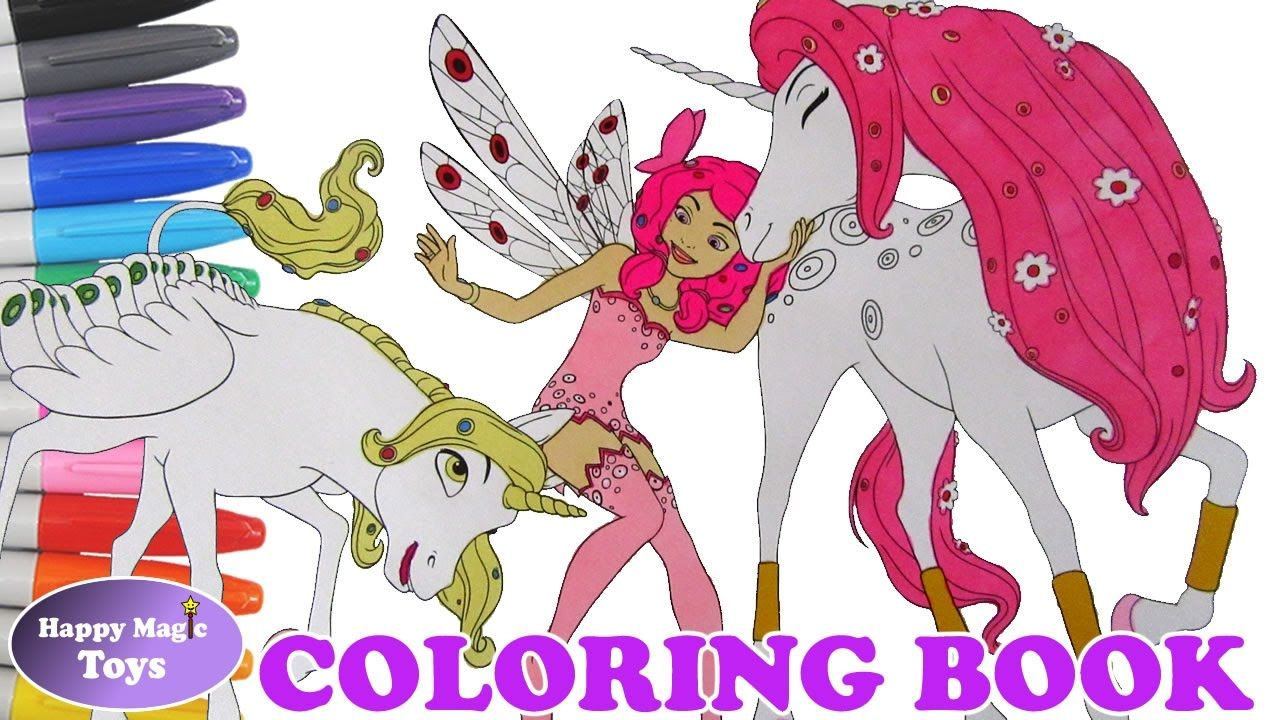 Mia With Onchao And Lyria Coloring Book Mia And Me Coloring Page
