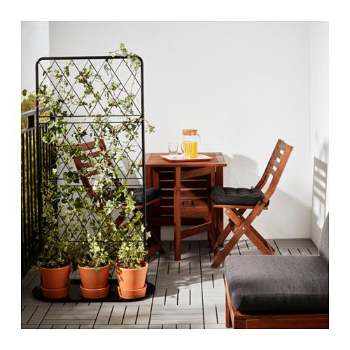 bars treillis sur socle ikea plante pinterest treillis ikea et balcons. Black Bedroom Furniture Sets. Home Design Ideas