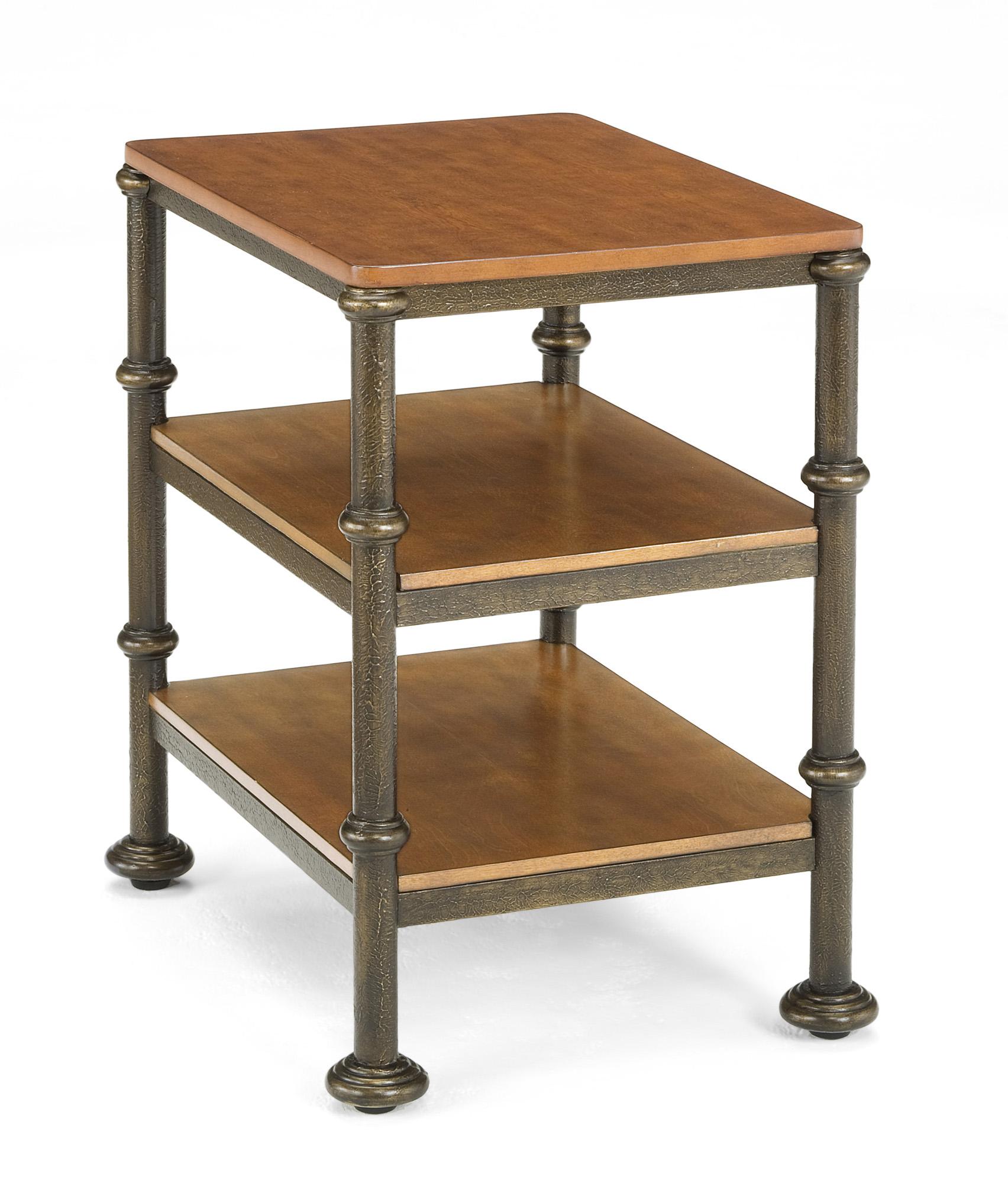 Bentley oak metal side table bernards home gallery stores