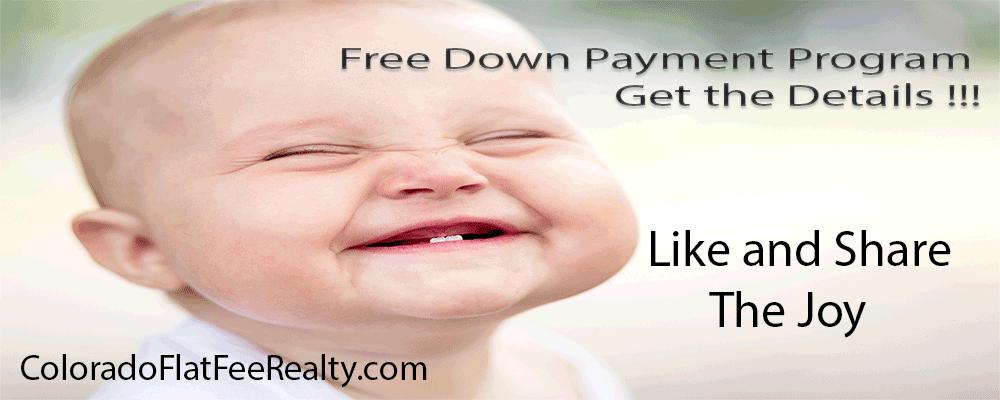 #DenverHomesForSale http://coloradoflatfeerealty.com/Free-Down-Payment Like and Share the Joy