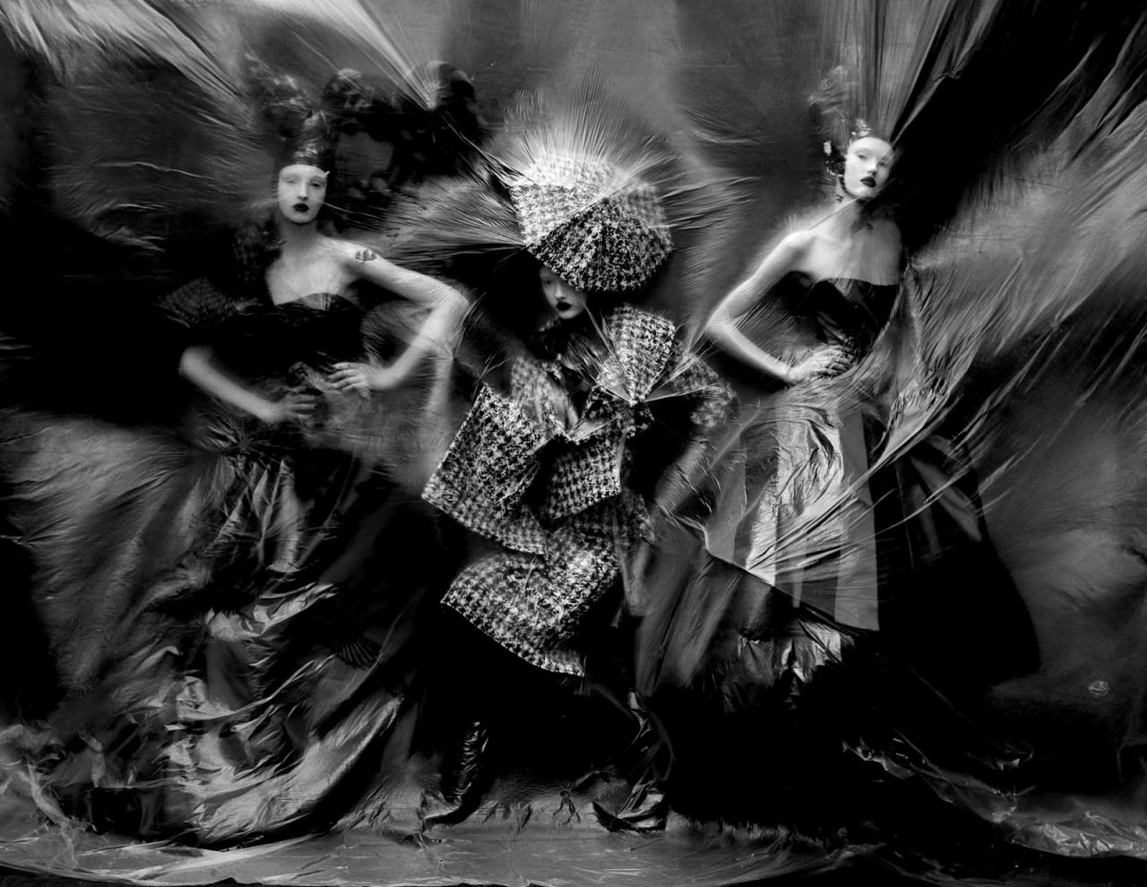 Tim Walker brings the magic of McQueen's artistry to life in 'Dark Angel' for Vogue UK, March 2015