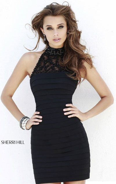 2015 Black Fitted Short Homecoming Dresses