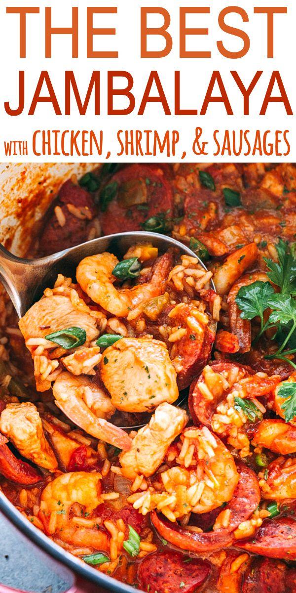 The Best Jambalaya Recipe Easy Tasty One Pot Recipe For Jambalaya Prepared With Rice Chicken Best Jambalaya Recipe Jambalaya Recipe Easy Jambalaya Recipe