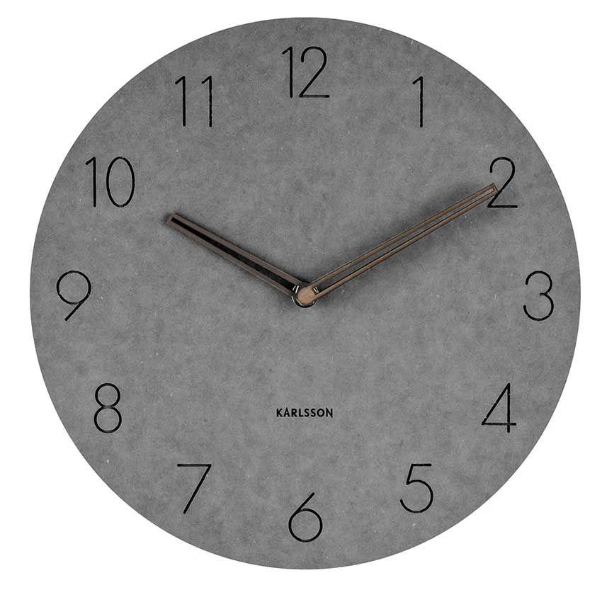 Horloge Murale Design Grise Horloge Originale Pas Cher Muraem Chasy Betonnyj Dizajn Svetilniki