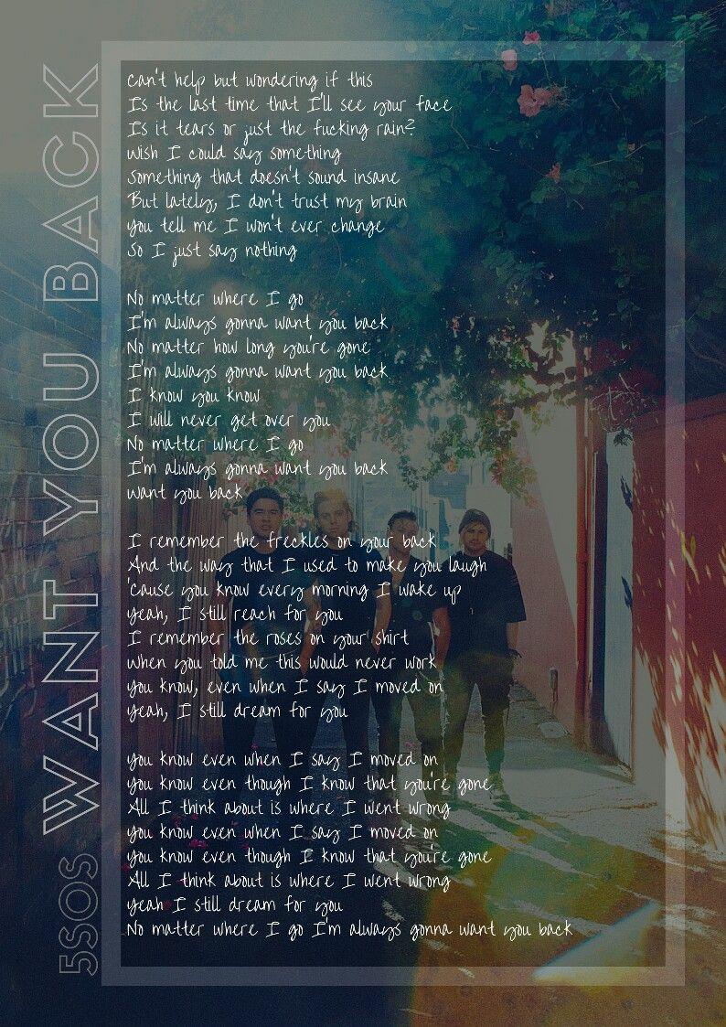 Want You Back Lyric Youngblood 5sos 5sos Lyrics 5