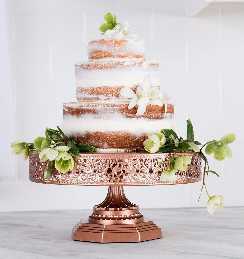 Cake Stand 12 Round Metal Pedestal Wedding Party Dessert Cupcake Display Plate Platinumhomedesigns Weddingeventbirthdayhome